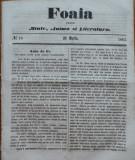 Foaia pentru minte , inima si literatura , nr. 10 , 1863 , Brasov , I. Muresanu
