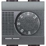 Termostat de ambient electronic Living Light Bticino 2M culoare antracit L4441