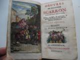 Carte rara - Bibliofilie - Oeuvres de Scarron (Le Roman Comique) 1737 - ex. unic