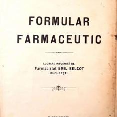 Formular farmaceutic (1921)
