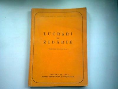 LUCRARI DE ZIDARIE - I. G. GALKIN foto