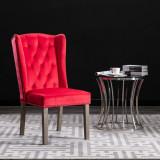 VidaXL Scaun de sufragerie, roșu, catifea