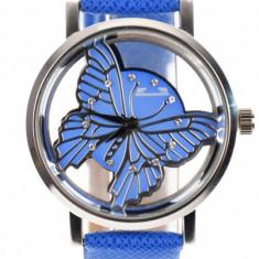 Ceas dama elegant MATTEO FERARI, design italian Crystal Shine, Albastru - MF3199ALBASTRU