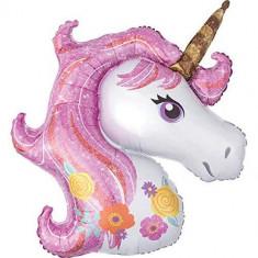 Balon folie Gigant Unicorn Magic Rainbow 110 x 87 cm
