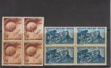 ROMANIA 1949  LP 255  ANIVERSAREA A 75 DE ANI UPU  BLOCURI DE 4   MNH