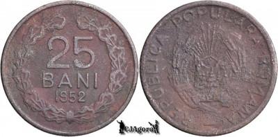 1952, 25 Bani - RPR - Romania foto