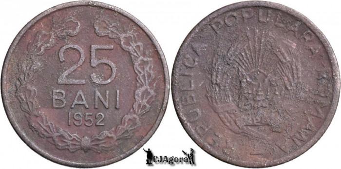 1952, 25 Bani - RPR - Romania
