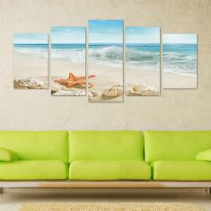 Set Tablouri Canvas 5 piese Plaja 113x56 cm