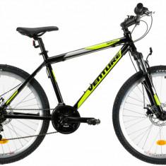 Bicicleta Mtb Venture 2621 495Mm Negru Galben 26 Inch