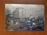 Drobeta Turnu Severin - Hotel Parc - Vedere metalizata argintie circulata, Fotografie