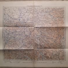 Semlin, Orsova Veche, Belgrad, Uzice/ harta Serviciul Geografic al Armatei 1939