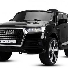 Masinuta electrica pentru copii Audi Q7 2x35W 12V, Scaun tapitat #Negru