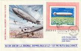 Romania 1979,Aviatie,Plic ocazional,ZEPPELIN , Zbor Omagial deasupra Balcanilor