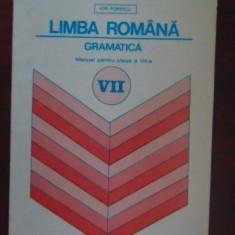 Limba romana gramatica. Manual pentru clasa a VII-a I. Popescu
