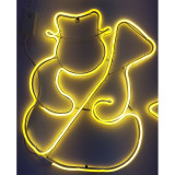 Instalatie de Craciun, Figurina Neon flex Om de zapada, Alb Cald SDX Z9601WW, Figurina luminoasa neon flexibil