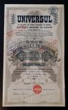 Actiune 1921 Ziarul Universul - titlu - 10 actiuni la purtator - Rara