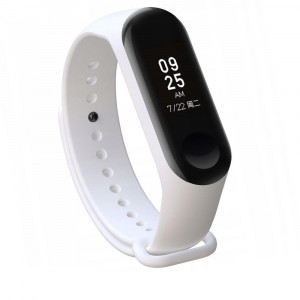 Curea silicon Tech-Protect Smooth Xiaomi Mi Band 3/4 White