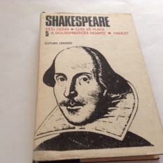 Shakespeare - Opere complete, vol 5, Hamlet, A douasprezecea noapte...RF17/3