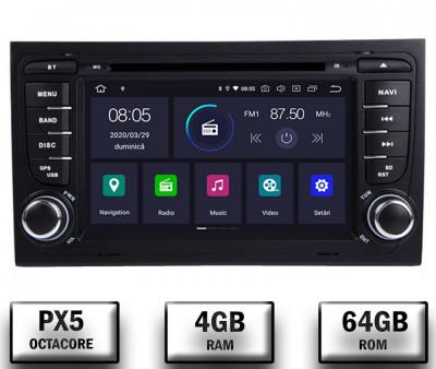Navigatie Audi A4 (B6, B7), Android 10, Octacore PX5 4GB RAM + 64GB ROM cu DVD, 7 Inch - AD-BGWAUDIA4P5 foto