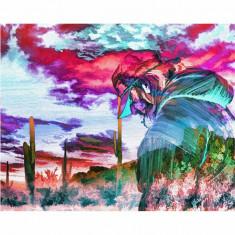 Tablou Canvas, Pictura Artistica, Peisaj Violet - 20 x 25 cm