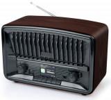 Radio Muse M-135 DBT, DAB+/ FM, Bluetooth, AUX in (Negru/Maro)