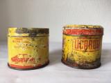 2 cutii de tabla PECO Licarom anii 70, vechi, vintage, romanesti