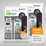 Hartie FOTO Magnetica Glossy 640 grame A4