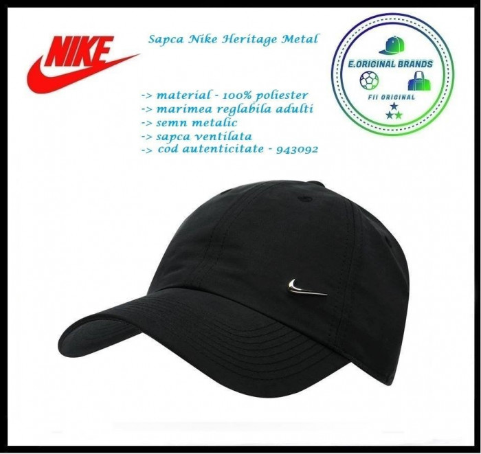 In Stoc! Sapca Nike Metal  - Reglabila - Poliester - Cod 943092