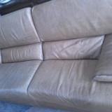 Canapea piele cu fotoliu