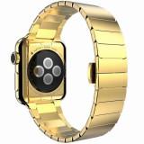 Cumpara ieftin Curea pentru Apple Watch 44 mm Otel Inoxidabil iUni Gold Link Bracelet