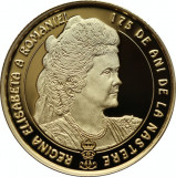 Moneda Romania 100 Lei 2018 - PROOF ( Regina Elisabeta - 175 ani nastere - aur )