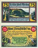 1922 (IV), 75 pfennig - Africa Germană de Sud Vest  UNC