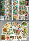 Pachet 100 timbre tematica ciuperci, stampilate