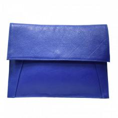 Plic dama, din piele naturala, Bond, 1402ALBSLS-07-07-20, albastru