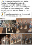 """Statuetă Figurină Bibelou Porțelan Arpo """" Fată cu Flori Primăvara Grădină Eden """""""