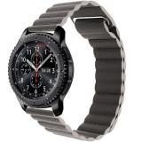 Curea piele Smartwatch Samsung Gear S2, iUni 20 mm Dark Gray Leather Loop