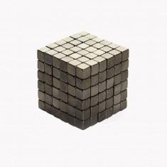 Neocube 216 cuburi magnetice 5mm, joc puzzle, culoare gri