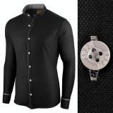 Cumpara ieftin Camasa pentru barbati, neagra, slim fit - Neo Elegance, L, M, XXL