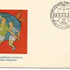 (No4) FDC ROMANIA- CAMPIOANA MONDIALA HANDBAL 1974
