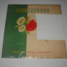 Coperta generica disc mare Electrecord (muzica simfonica), cu mapa protectie, VINIL