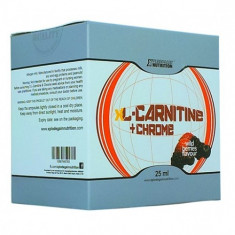 X L-Carnitine + Chrome, 14 fiole x 25 ml, fructe de padure