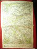Harta Zonei Cernauti-Radauti-Suceava -Dorohoi-Botosani -litografiata 1928 M.Mold