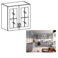 Cabinet superior, alb gri mat, LAYLA G80S
