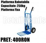 Liza Carucior Platforma Rabatabila Mare Transport Bidoane Marfa 250kg