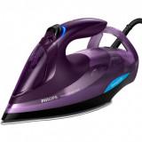 Fier de calcat Philips Azur Advanced GC4934/30, putere 3000 W, talpa SteamGlide Plus, tehnologie OptimalTEMP, detartrare rapida, mov