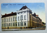 Caransebes Scoalele de Stat, ilustrata circulata 1922, Fotografie