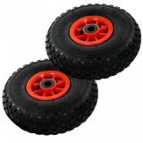 Roți cărucior industrial, 2 buc., cauciuc 3.00-4 (245x82), vidaXL