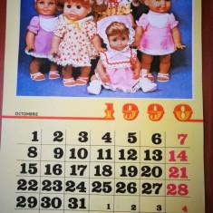 Calendar Papusi Aradeanca. Anul 1990. Calendar vechi, de colectie!