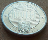 Moneda 1000 Lei - ROMÂNIA, anul 2003   *cod 192   ALLU - A.UNC, Aluminiu