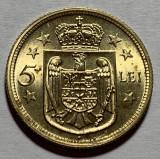 5 Lei 1930 H Alama, Romania, UNC, Luciu de batere